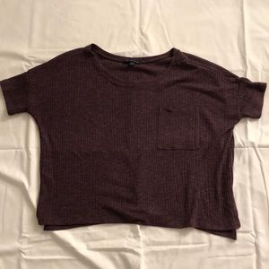 American Eagle burgundy shirt size s